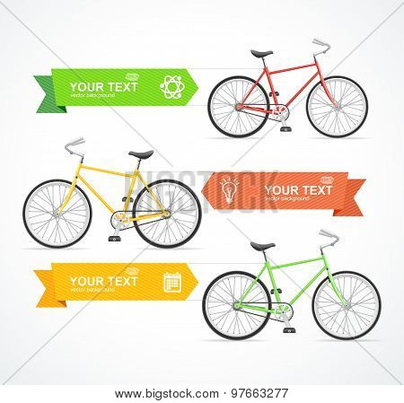 Vector Bike Option Banner