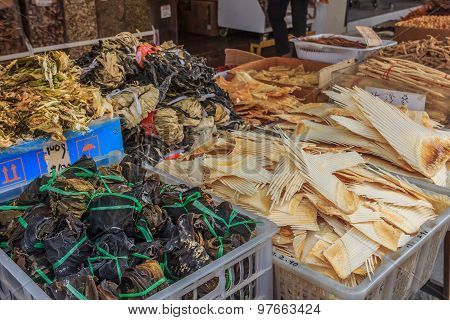 Dried shark fin at a Chinese market