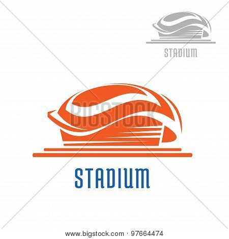 Sport area or stadium icon