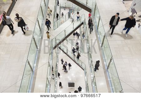 People in a shopping mall