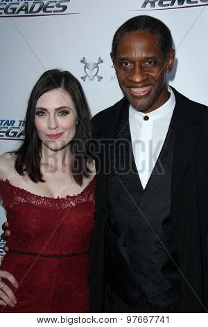 LOS ANGELES - AUG 1:  Adrienne Wilkinson, Tim Russ at the