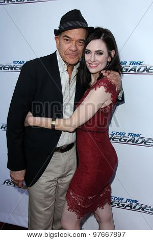 LOS ANGELES - AUG 1:  Robert Picardo, Adrienne Wilkinson at the