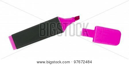 Pink Highlighter Isolated