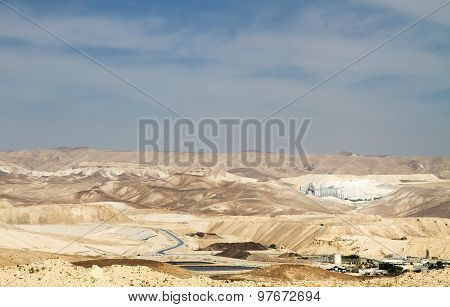The Dead Sea Works Is An Israeli Potash Plant In Desert .