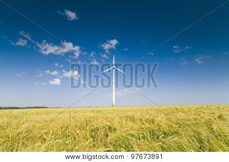 Wind Energy Plant over field