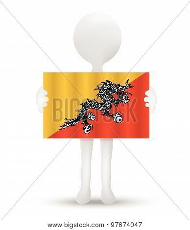 Flag Of Kingdom Of Bhutan