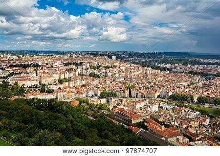 View Of Croix Rousse Hill, Lyon, France