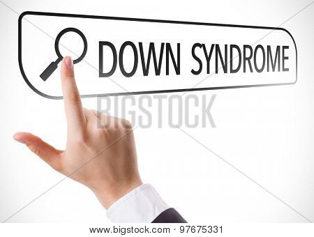 Down Syndrome written in search bar on virtual screen