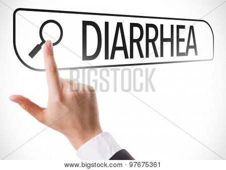 Diarrhea written in search bar on virtual screen