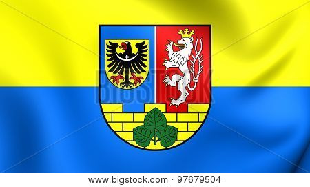 Flag Of Gorlitz Landkreis, Germany.