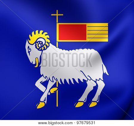 Flag Of Gotland County, Sweden.