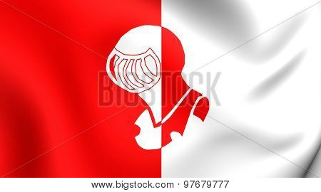 Flag Of Helmond City, Netherlands.