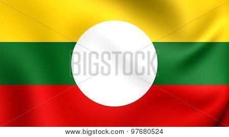 Flag Of Shan State, Burma.