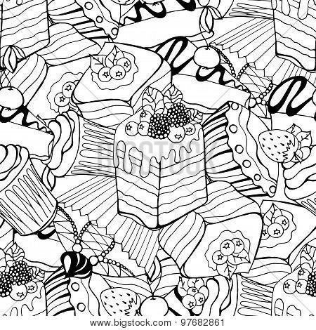 Sketches of desserts