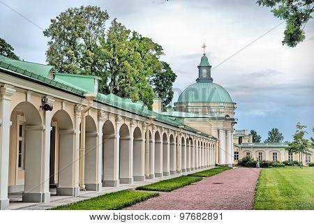 Oranienbaum (Lomonosov). Saint-Petersburg. The Grand Menshikov Palace. The Church Pavilion