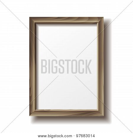 Wooden rectangular photo frame