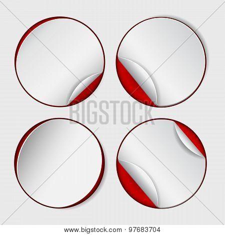 Blank, white round promotional sticker