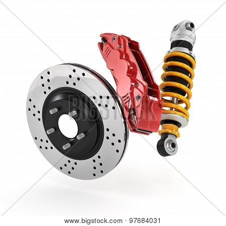 Car Brakes With Absorbers.