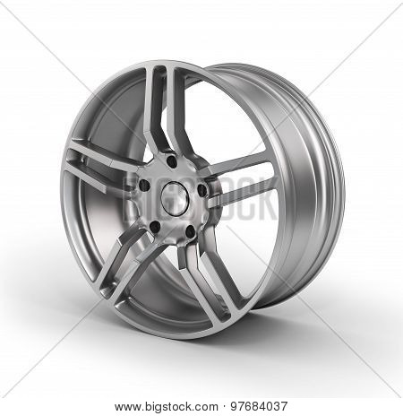Car Wheel, Car Alloy Rim On White Background. Auto Parts.
