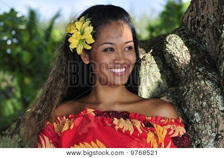 Hawaiian Girl Smiling