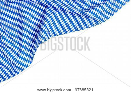 White Blue Diamond Pattern On A White Background