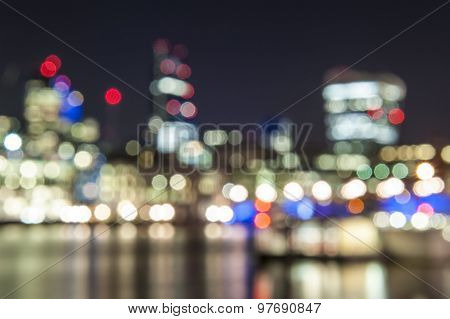 Bokeh Effect In City Night