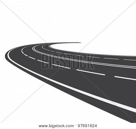 Perspective of curved road