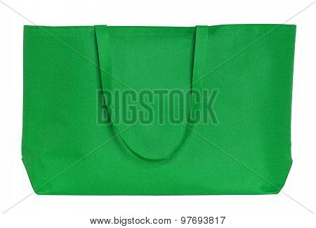 Green Shopping Bag Isolated On White With Clipping Path