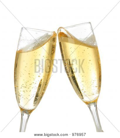 Celebration Toast With Champagne