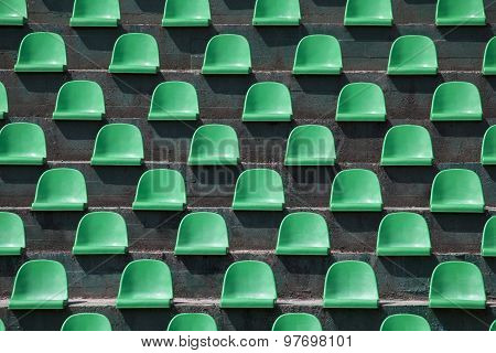 Stadium Seats As Background