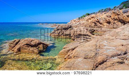 Coastal Landscape Of Plage De Capo Di Feno