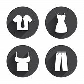 Постер, плакат: Clothes signs T shirt with tie and pants
