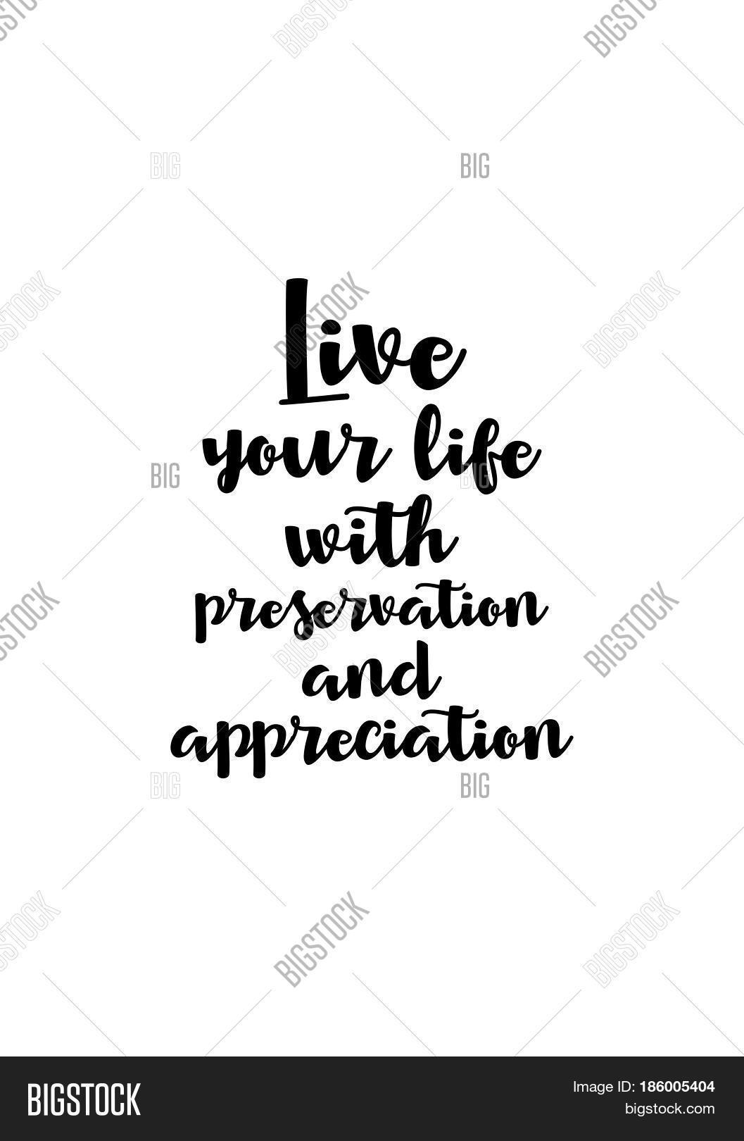 Live Your Life Quotes Lettering Quotes Motivation About Vector & Photo  Bigstock