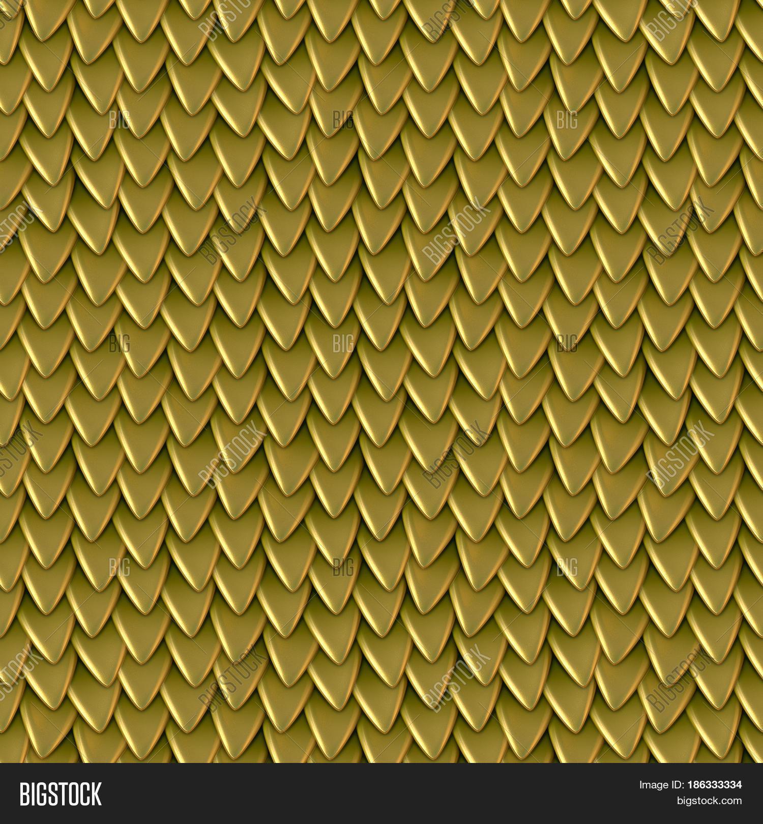 Seamless Texture Metallic Dragon Image Amp Photo Bigstock
