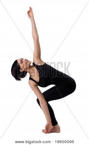 woman stand in yoga asana