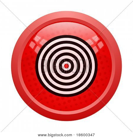 Target on the red glossy button