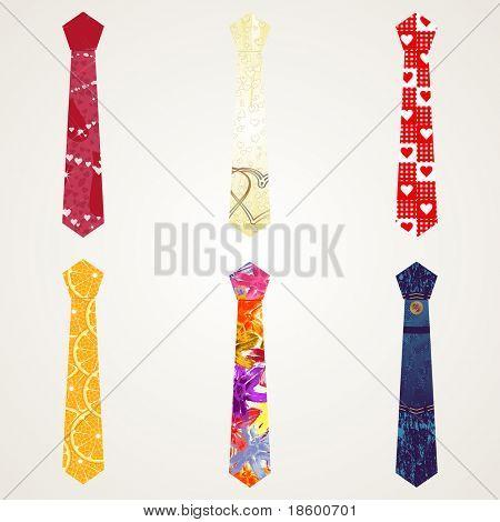 Various models of seamless pattern neckties