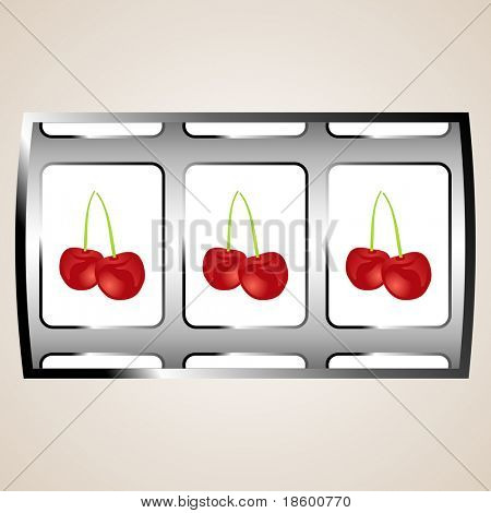 Pair of cherries on the jackpot