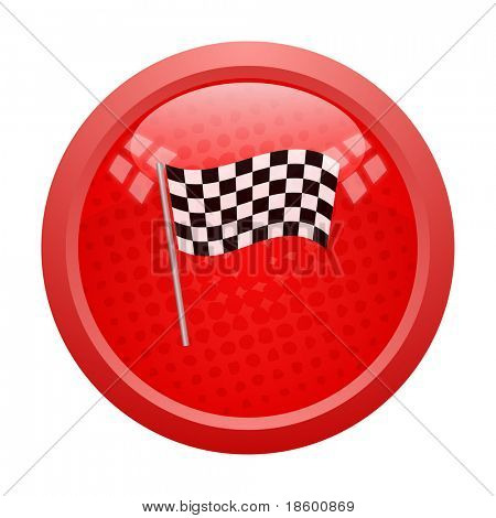 Red button with finish flag