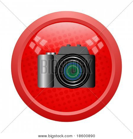 Digital camera on the red button