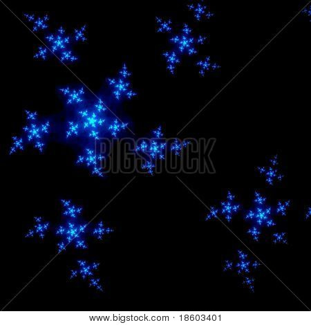 Blue nebula on black