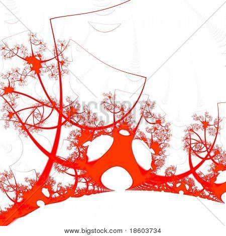 Red background illustration