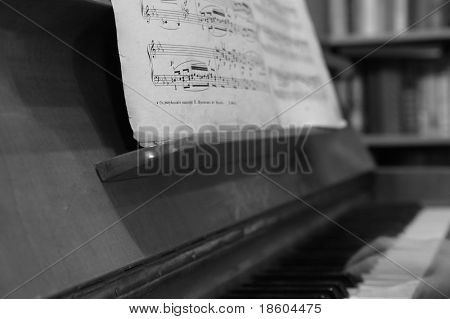 Old notes and phantom of the piano