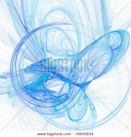 Blue fantasy on white background