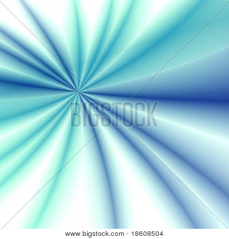 Blue fantasy star on white background