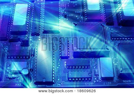Alta tecnologia - eletrônica do computador (close-up)