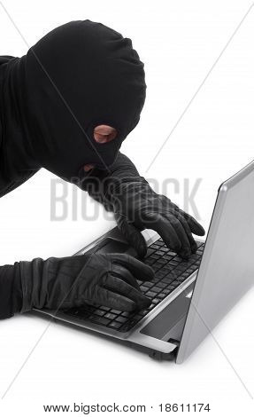 Data Thief With Laptop