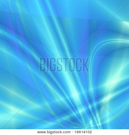 Blue fantasy rays