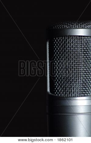 Black vocal microphone