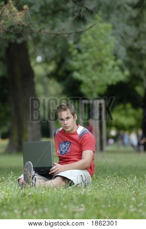 Young Man With Notebook